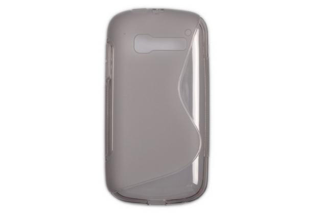 Фирменная ультра-тонкая полимерная из мягкого качественного силикона задняя панель-чехол-накладка для Alcatel OneTouch Pop C5 5036D/X серый