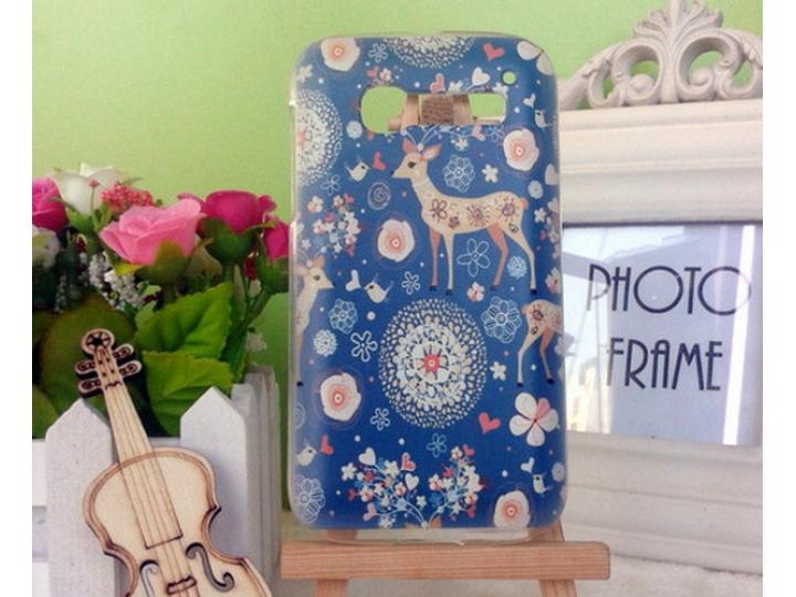 Фирменная роскошная задняя панель-чехол-накладка с безумно красивым расписным узором на Alcatel OneTouch Pop C..