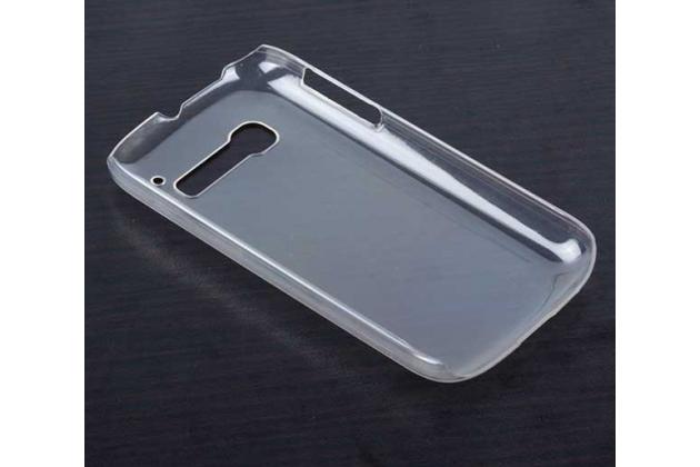 Фирменная задняя панель-крышка-накладка из тончайшего и прочного пластика для Alcatel OneTouch Pop C5 5036D/X прозрачная