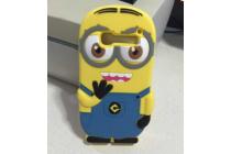 """Фирменная задняя панель-чехол-накладка с объёмным 3D изображением для Alcatel OneTouch Pop C5 5036D/X """"тематика веселый Миньон"""" желтая"""