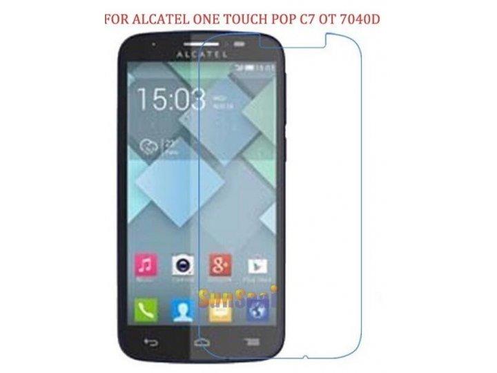 Фирменная оригинальная защитная пленка для телефона Alcatel One Touch POP C7 7040D/7041D глянцевая..