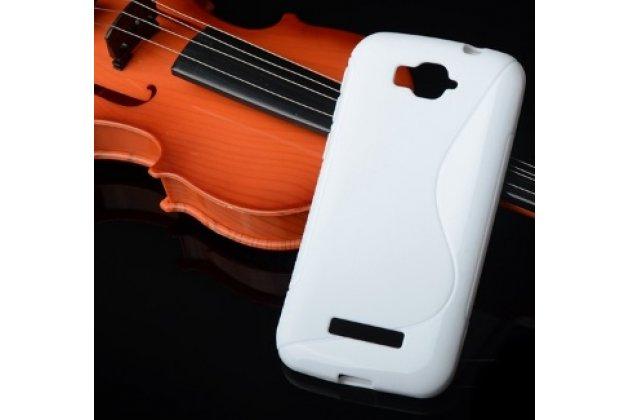 Фирменная ультра-тонкая полимерная из мягкого качественного силикона задняя панель-чехол-накладка для Alcatel POP C7 7041D белая