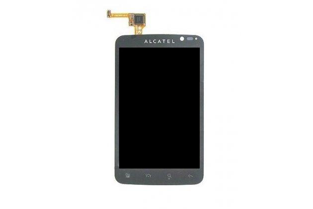 Фирменный LCD-ЖК-сенсорный дисплей-экран-стекло с тачскрином на телефон Alcatel POP C7 7041D черный + гарантия
