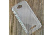 Фирменная задняя панель-крышка-накладка из тончайшего и прочного пластика для Alcatel POP C7 7041D прозрачная