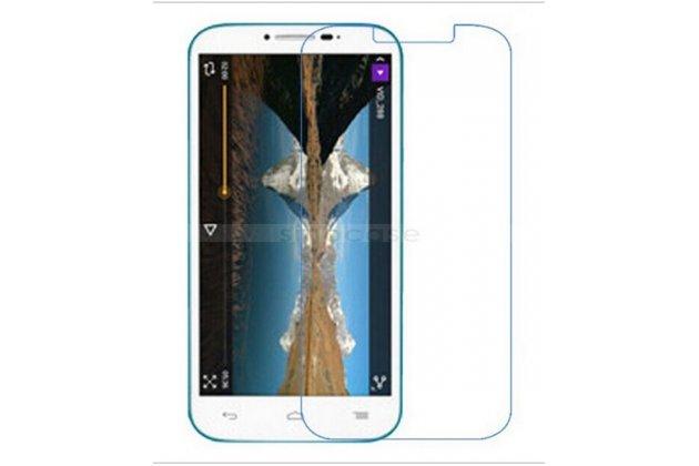 Фирменная оригинальная защитная пленка для телефона Alcatel One Touch Pop C9 7047D  глянцевая