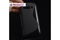 Фирменная ультра-тонкая полимерная из мягкого качественного силикона задняя панель-чехол-накладка для  Alcatel POP C9 7047D черная