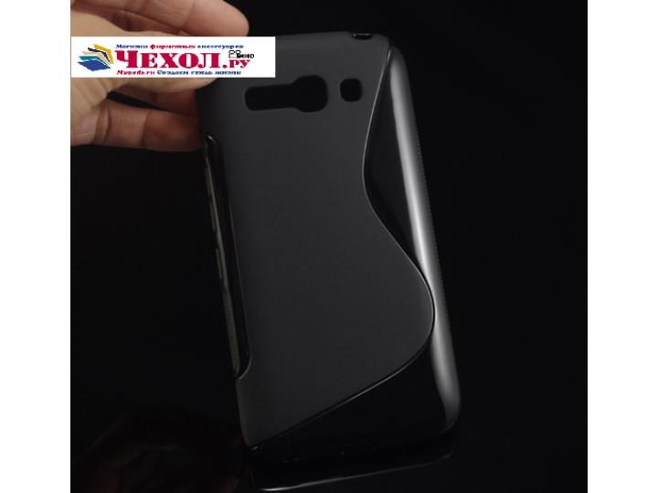 Фирменная ультра-тонкая полимерная из мягкого качественного силикона задняя панель-чехол-накладка для  Alcatel..