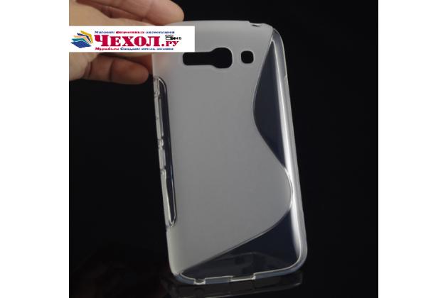 Фирменная ультра-тонкая полимерная из мягкого качественного силикона задняя панель-чехол-накладка для Alcatel POP C9 7047D серая