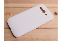 Фирменная задняя панель-крышка-накладка из тончайшего и прочного пластика для Alcatel POP C9 7047D белая