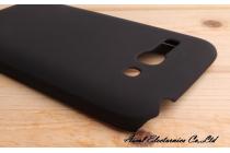 Фирменная задняя панель-крышка-накладка из тончайшего и прочного пластика для Alcatel POP C9 7047D черная