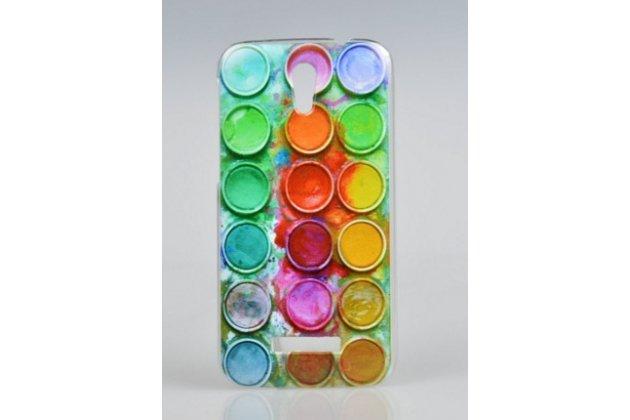 """Фирменная необычная из легчайшего и тончайшего пластика задняя панель-чехол-накладка для Alcatel One Touch Pop D5 5038E / 5038D  """"тематика Краски"""""""