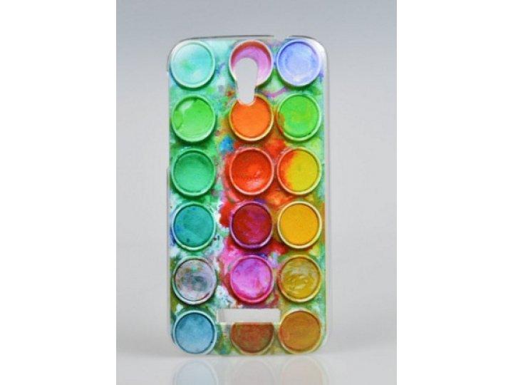 Фирменная необычная из легчайшего и тончайшего пластика задняя панель-чехол-накладка для Alcatel One Touch Pop..