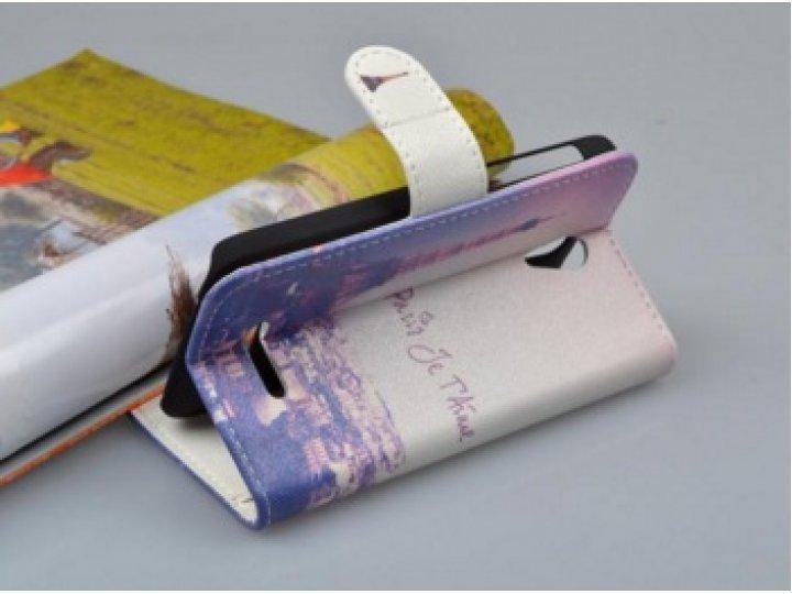 Фирменный уникальный необычный чехол-подставка для Alcatel One Touch Pop D5 5038E / 5038D