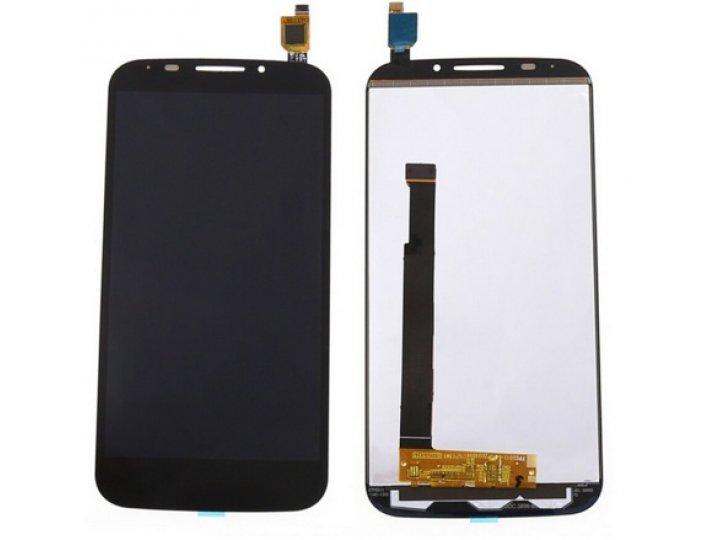 Фирменный LCD-ЖК-сенсорный дисплей-экран-стекло с тачскрином на телефон Alcatel Pop S7 7045Y черный + гарантия..