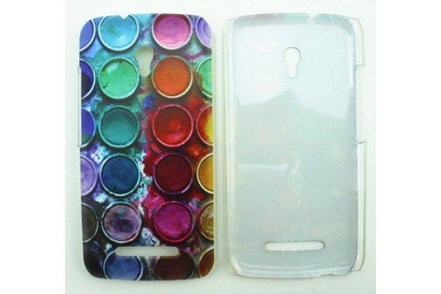 """Фирменная необычная из легчайшего и тончайшего пластика задняя панель-чехол-накладка для Alcatel Pop S9 7050Y """"тематика Краски"""""""