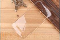 Фирменная задняя панель-крышка-накладка из тончайшего и прочного пластика для Alcatel Pop S9 7050Y прозрачная