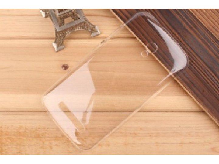Фирменная задняя панель-крышка-накладка из тончайшего и прочного пластика для Alcatel Pop S9 7050Y прозрачная..