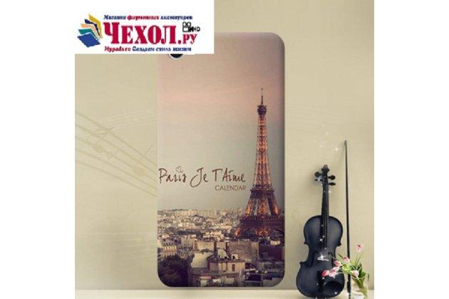 Фирменная роскошная задняя панель-чехол-накладка  из мягкого силикона с безумно красивым расписным 3D рисунком Париж на Alcatel A5 Led 5058D / 5085Y 5.2