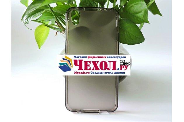 """Фирменная ультра-тонкая силиконовая задняя панель-чехол-накладка для Alcatel IDOL 4 6055K 5.2""""/ Idol 4 5.2"""" серая"""