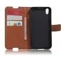 Фирменный чехол-книжка из качественной импортной кожи с мульти-подставкой застёжкой и визитницей для Alcatel I..
