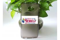 """Фирменная ультра-тонкая силиконовая задняя панель-чехол-накладка для Alcatel One Touch Idol 4S 6070K  5.5"""" серая"""