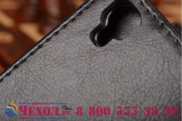 """Фирменный оригинальный вертикальный откидной чехол-флип для Alcatel One Touch Idol 3 (4.7) / 3 (4.7) Dual Sim 6039Y/K из натуральной кожи """"Prestige"""" Италия"""