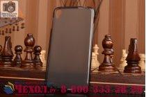 Фирменная ультра-тонкая полимерная из мягкого качественного силикона задняя панель-чехол-накладка для Alcatel One Touch Idol 3 (5.5) / 3 (5.5) Dual Sim 6045Y/K черная