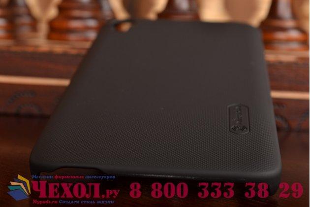 Фирменная задняя панель-крышка-накладка из тончайшего и прочного пластика для Alcatel One Touch Idol 3 (5.5) / 3 (5.5) Dual Sim 6045Y/K черная