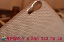 Фирменная задняя панель-крышка-накладка из тончайшего и прочного пластика для Alcatel One Touch Idol 3 (5.5) / 3 (5.5) Dual Sim 6045Y/K золотая