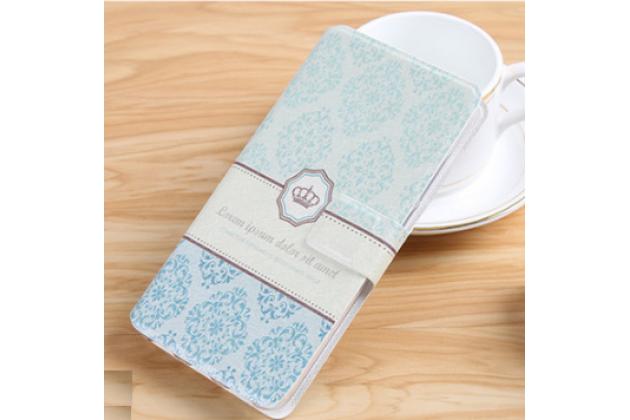 Фирменный уникальный необычный чехол-книжка для Alcatel One Touch Idol 3 5.5 6045Y/K тематика Корона в винтажном стиле
