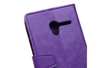 Фирменный чехол-книжка из качественной импортной кожи с мульти-подставкой застёжкой и визитницей для Алкатель / Алкатэль Уан /Ван  Тач Поп (Пикси)3 5015X Икс фиолетовый