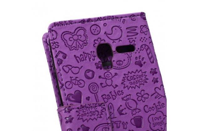 """Фирменный уникальный необычный чехол-книжка для Alcatel One Touch POP 3 5065D 5.0"""" """"тематика Pretty Girl"""""""