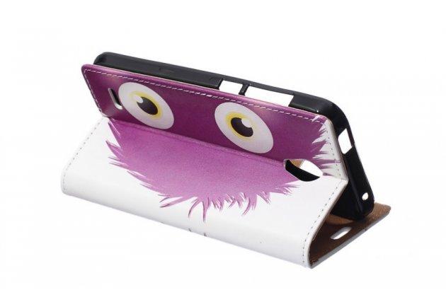 """Фирменный уникальный необычный чехол-книжка для Alcatel OneTouch Go Play 7048X """"тематика Большие Глаза"""""""