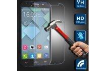 Фирменное защитное закалённое противоударное стекло премиум-класса из качественного японского материала с олеофобным покрытием для телефона Alcatel OneTouch Go Play 7048X