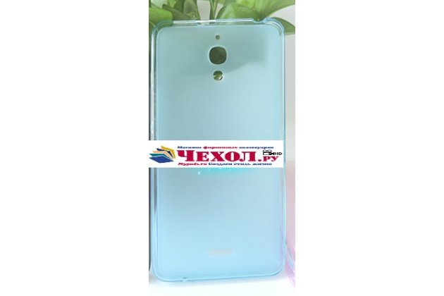 Фирменная ультра-тонкая силиконовая задняя панель-чехол-накладка для Alcatel PIXI 4(6) 4G 9001D/F 6.0 голубая