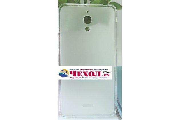Фирменная ультра-тонкая силиконовая задняя панель-чехол-накладка для Alcatel PIXI 4(6) 4G 9001D/F 6.0 белая