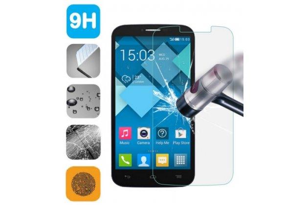 Фирменное защитное закалённое противоударное стекло премиум-класса из качественного японского материала с олеофобным покрытием для телефона Alcatel PIXI 4(6) 4G 9001D/F 6.0