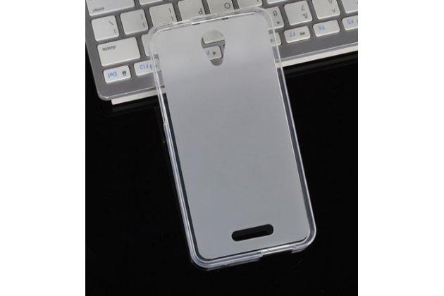 Фирменная ультра-тонкая силиконовая задняя панель-чехол-накладка для Alcatel POP 4 5051D/X 5.0 6.0 белая
