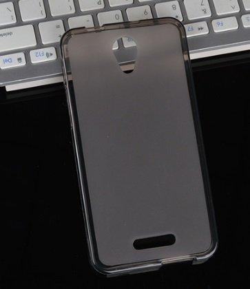 Фирменная ультра-тонкая силиконовая задняя панель-чехол-накладка для Alcatel POP 4 5051D/X 5.0 серая