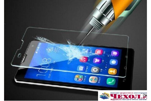 Фирменное защитное закалённое противоударное стекло премиум-класса из качественного японского материала с олеофобным покрытием для телефона Alcatel POP 4 5051D/X 5.0