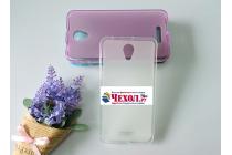 """Фирменная ультра-тонкая силиконовая задняя панель-чехол-накладка для Alcatel POP 4 Plus 5056D 5.5"""" белая"""