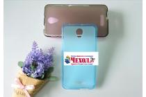 """Фирменная ультра-тонкая силиконовая задняя панель-чехол-накладка для Alcatel POP 4 Plus 5056D 5.5"""" голубая"""