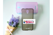 """Фирменная ультра-тонкая силиконовая задняя панель-чехол-накладка для Alcatel POP 4 Plus 5056D 5.5"""" серая"""