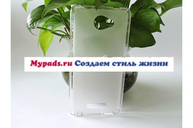 Фирменная ультра-тонкая силиконовая задняя панель-чехол-накладка для Alcatel POP 4S 5095Y/ 5095K белая