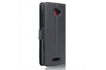 """Фирменный чехол-книжка для Alcatel POP 4S 5095Y/ 5095K 5.5"""" с визитницей и мультиподставкой черный кожаный"""