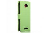 """Фирменный чехол-книжка для Alcatel POP 4S 5095Y/ 5095K 5.5"""" с визитницей и мультиподставкой зеленый кожаный"""