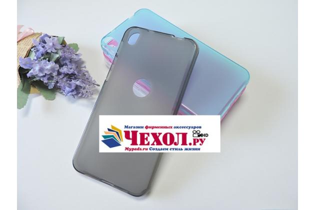 """Фирменная ультра-тонкая полимерная из мягкого качественного силикона задняя панель-чехол-накладка для Alcatel SHINE LITE 5080X 5.0"""" серая"""