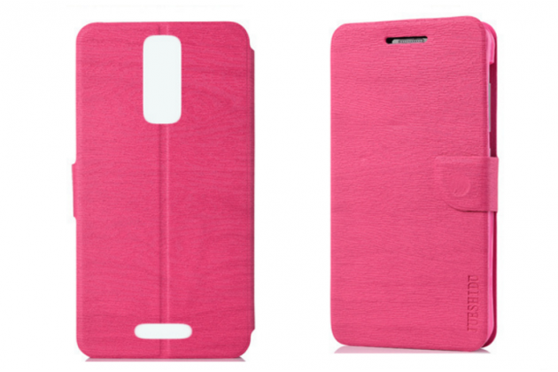 Фирменный чехол-книжка водоотталкивающий с мульти-подставкой для Alcatel A3 XL 9008D/9008X розовый