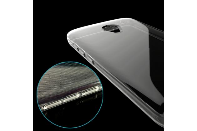 Фирменная ультра-тонкая полимерная из мягкого качественного силикона задняя панель-чехол-накладка для Alcatel U5 5044Y 5.0 прозрачная