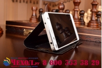 Чехол-футляр для Alcatel POP 2 5042X с окошком для входящих вызовов из высококачественной импортной кожи. Цвет в ассортименте